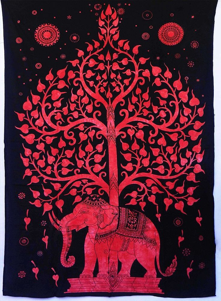 Twin Hippie Indian Tapestry Tree Elephant Mandala Throw Wall Hanging Bedspread #Handmade #ArtDecoStyle