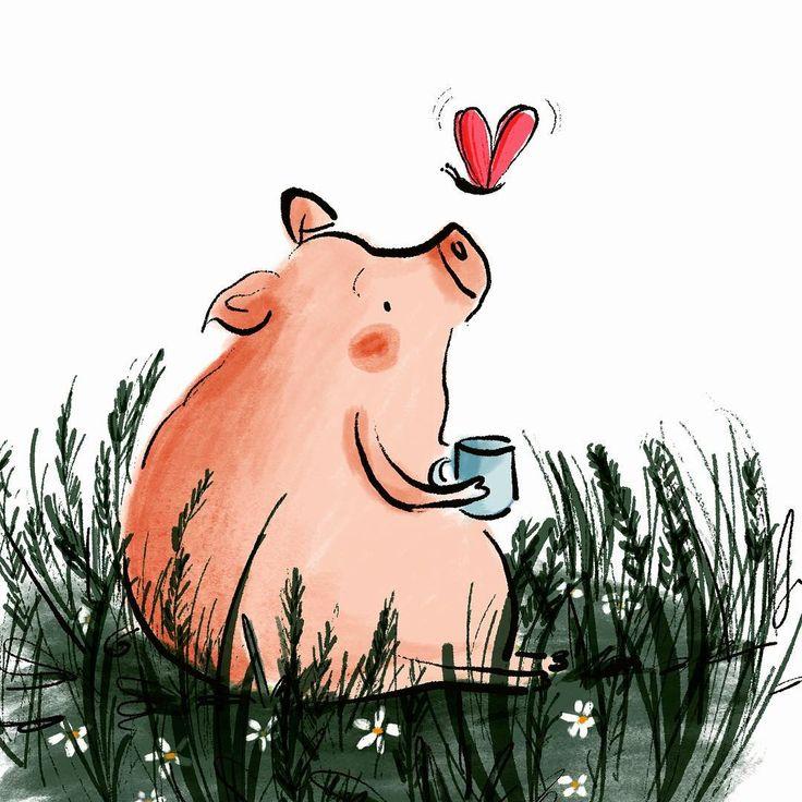 Прикольные картинки со свиньей нарисованные
