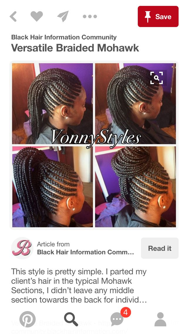 Mohawk Cornrows..my go to style.