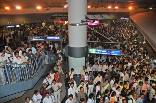 The Rajiv Chowk Metro Station has 46 exit gates for a smooth and swift exit of passengers which are the maximum for any metro station in the Delhi Metro Network. The deepest point of the Delhi Metro lies 45 meters down – below the Rajiv Chowk metro station.