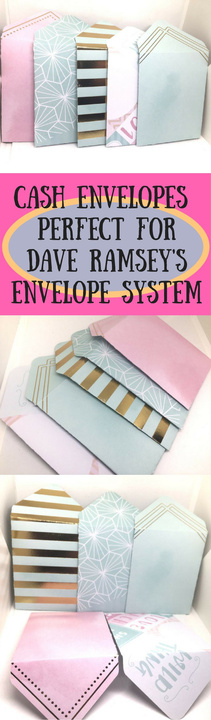 These stylish Cash Envelopes are absolutely perfect for Dave Ramsey's Cash Envelope Budgeting System. Budgeting with expression!!  #cashenvelopesystem #daveramsey #budgeting #saving #goingdebtfree #frugalliving #moneysense #organization #affiliate