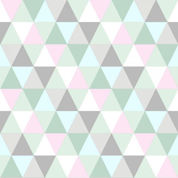 Tapet med geometriskt mönster i pastellfärger från kollektionen Everybody Bonjour 138706. Klicka för att se fler inspirerande tapeter för ditt hem!
