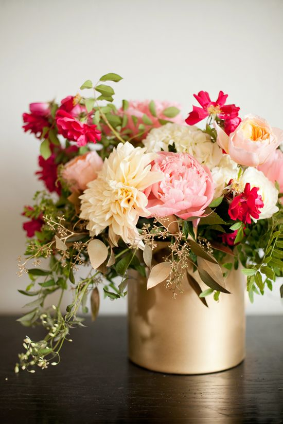 The best gold vase centerpieces ideas on pinterest