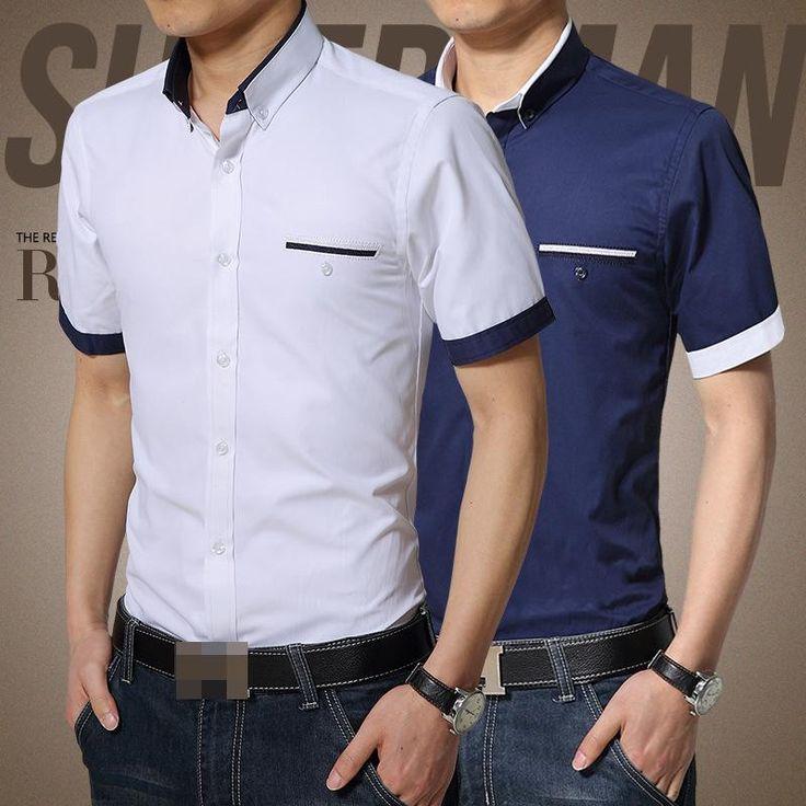 moda camisa caballero manga corta - Buscar con Google