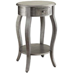 Hamilton Hand Painted Metallic Gunmetal Accent Table. Contemporary Style Accent  Table. Hand