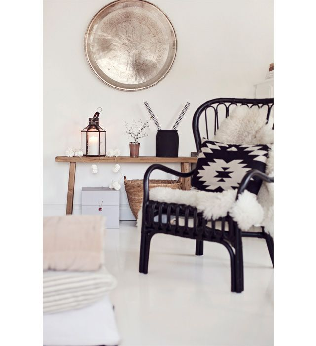 ... chairs on Pinterest  Armchairs, Sheepskin throw and Black chairs