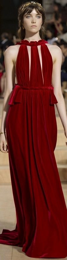Valentino Haute Couture Fall 2015 ~ A closer look ~ Love the intense rich color!