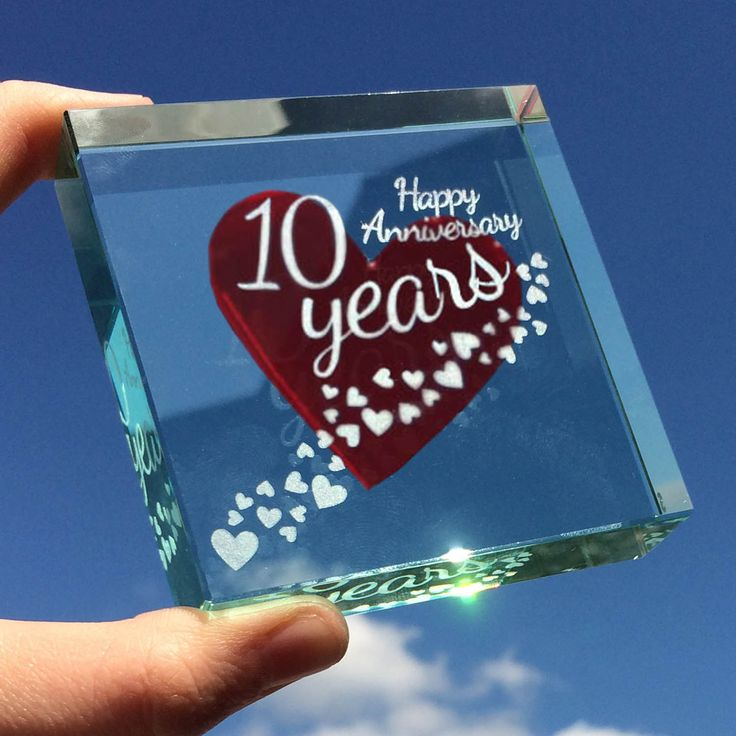 10 years - what a long time to share with someone, yet the years fly by when you're with the person you truly love. This gift can be personalised with the amount of years you are celebrating, whether this is your first anniversary or your fiftieth. #Much #Love #From #Spaceform #Anniversary #Gifts #London