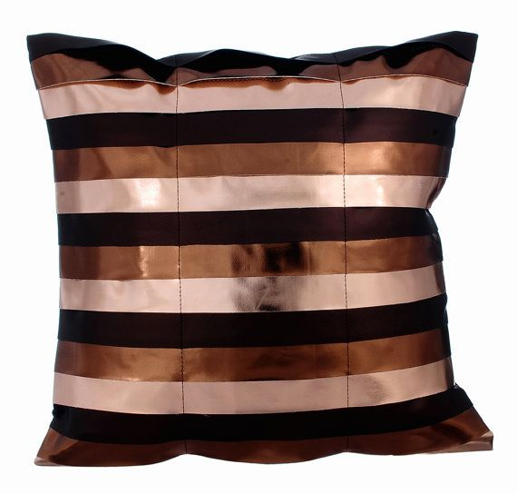 Omg Its Copper - 16x16 Copper Faux Leather Pillow