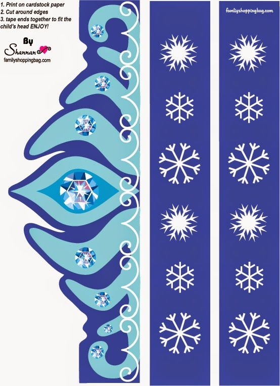 Frozen: Free Printable Elsa´s Crown.