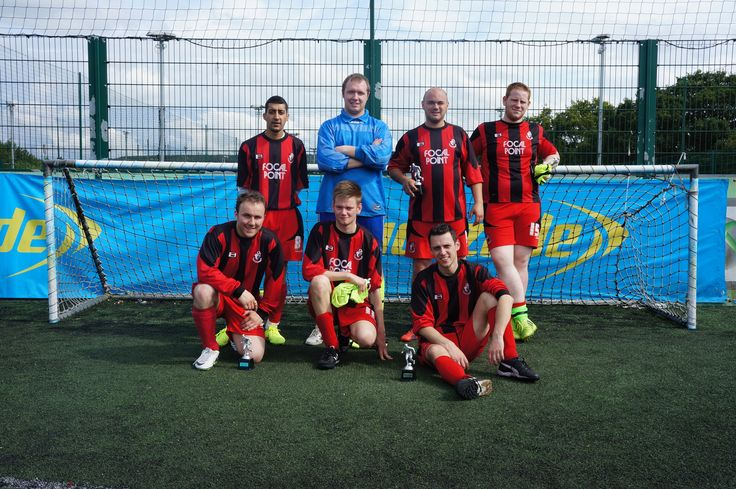(2/2) Charity Football Tournament runners-up Pickfords FC (Wembley), pictured at the Lucozade Powerleague centre in Milton Keynes, helping to raise £315 for the NSPCC!