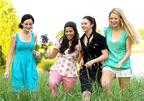 A third Sisterhood of the Traveling Pants movie is in the works!  Alloy Entertainment, which developed the first two films about the four friends, announced plans this week to begin another sequel based on author Ann Brashares's fifth and final Sisterhood book, Sisterhood Everlasting.  Starring Blake Lively, Alexis Bledel, America Ferrera, and Amber Tamblyn as the four best friends Bridget, Lena, Carmen, and Tibby, respectively,