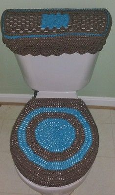 Crochet Bathroom Set - 3 piece - Handmade,Brighten up your bathroom