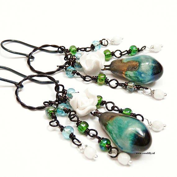 Bekijk dit items in mijn Etsy shop https://www.etsy.com/nl/listing/521185192/botanische-turkooise-kroonluchter