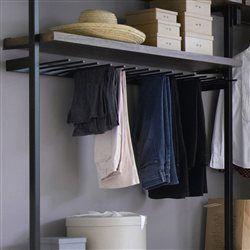 Porte pantalons kyriel pour dressing am pm cintre - Cintre pour pantalon ...