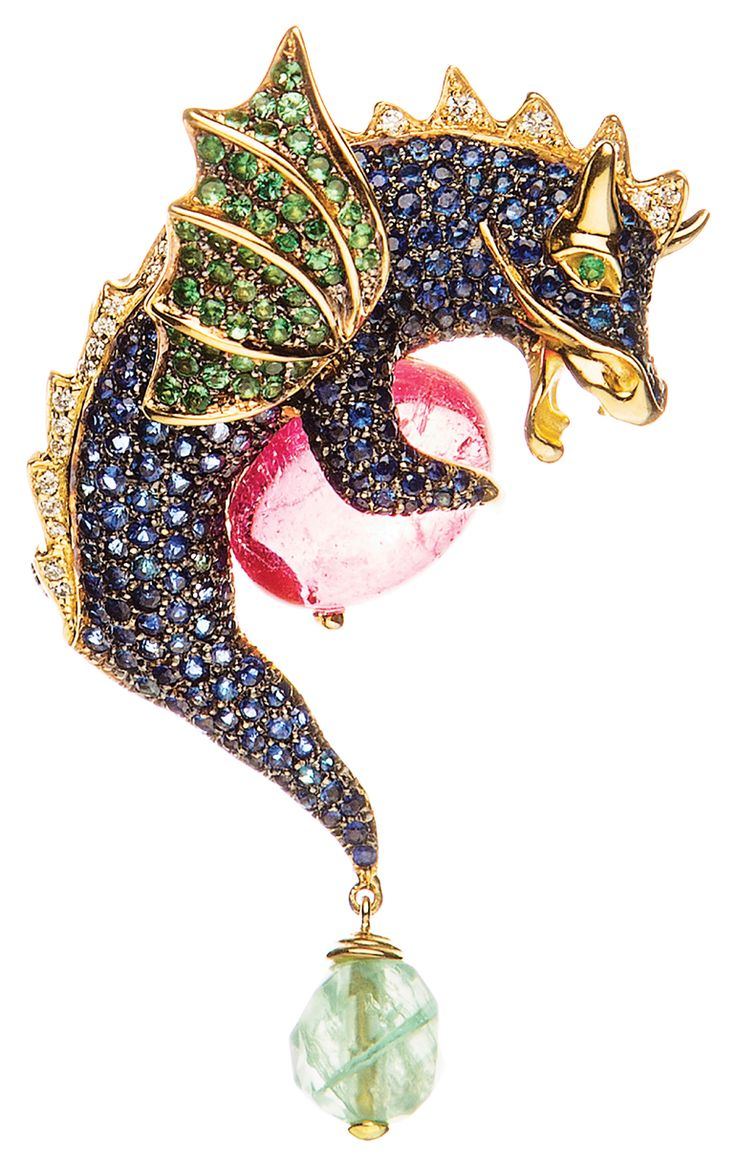 Thank you JCK Magazine ! Kathaline Page-Guth Dragon brooch.