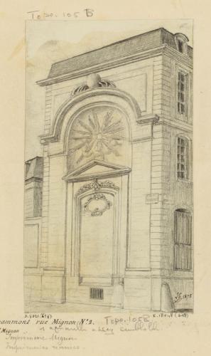 Collèges : Ancien Collège de Grammont rue Mignon N°. 2. devenu Hôtel Mignon. | Paris Musées