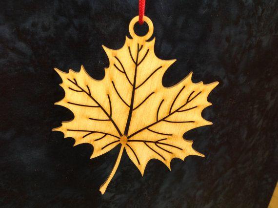 Laser Cut Maple Leaf by WoodenLaserCuts on Etsy