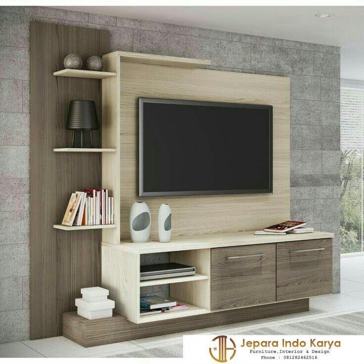 Panel Tv Minimalis Hpl Perabot Rumah Interior Desain Furnitur