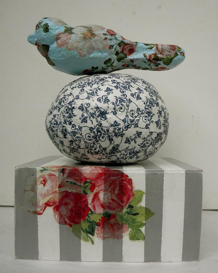 pajaro en flor, escultura de papel!