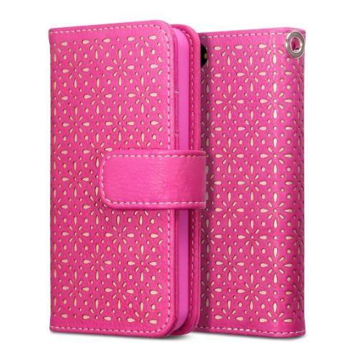 Köp Terrapin Textured Floral Fodral Apple iPhone 5/5S/SE rosa online: http://www.phonelife.se/terrapin-textured-floral-fodral-apple-iphone-5-5s-se-rosa
