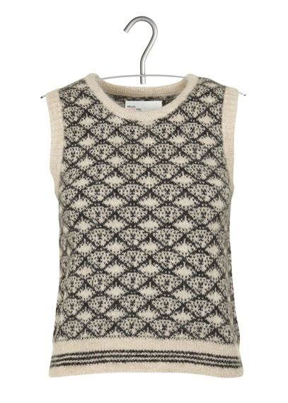 Pull Noa maille jacquard Blanc by LEON & HARPER