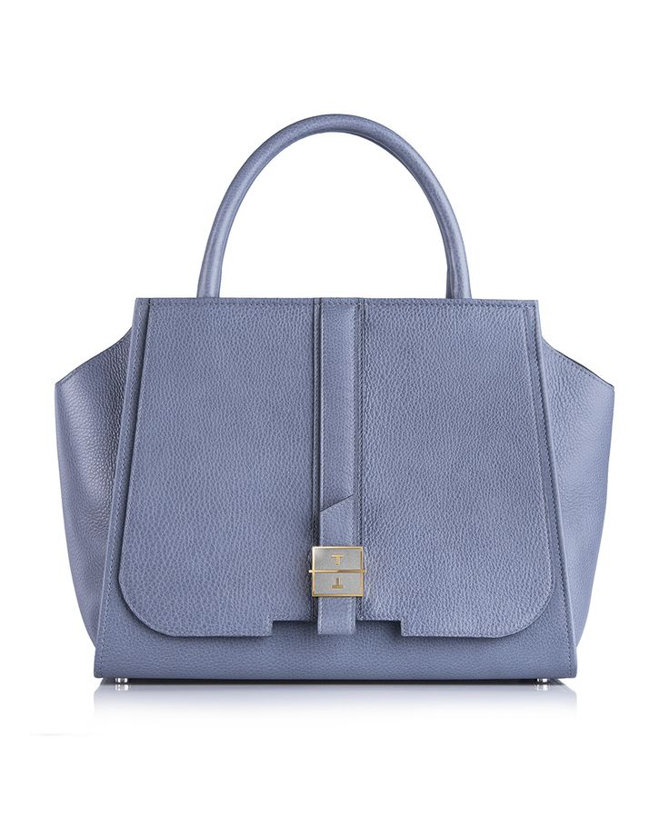 MELIA deer leather handbag in Flintstone Blue by TANCHEL