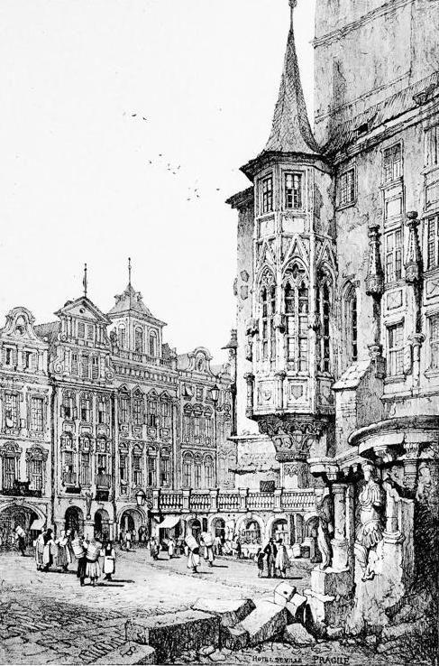 Samuel Prout (1783-1852) - Hotel de Ville, Prague, 1833