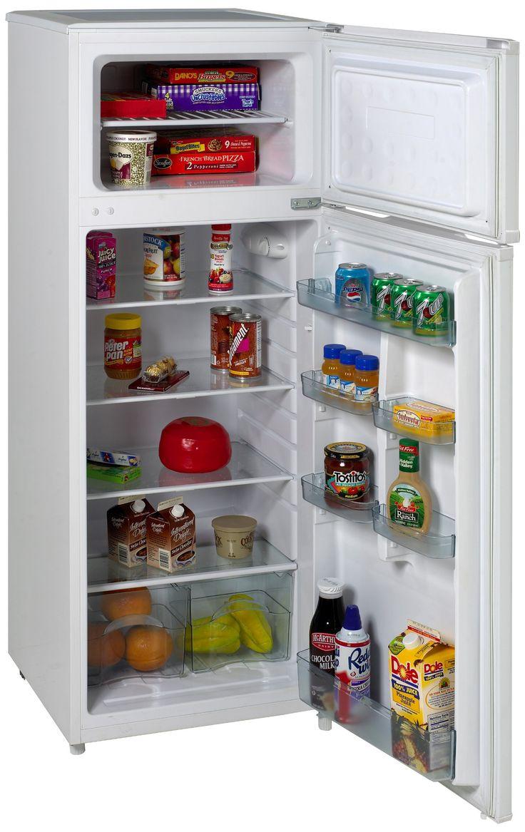 Amazon.com: Avanti RA7306WT 2-Door Apartment Size Refrigerator, White: Appliances