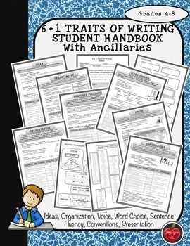 I appreciate these comments from buyers: Student friendly - Extremely helpful - Wonderfully organized - Wonderful product - Great for writing journals and binders - Straight to the point - Impressed with embedded lessons on each trait.UPDATE: I have revised each trait and have added a student cover page, a cluster organizer, graphic organizer examples and a list of transition words.