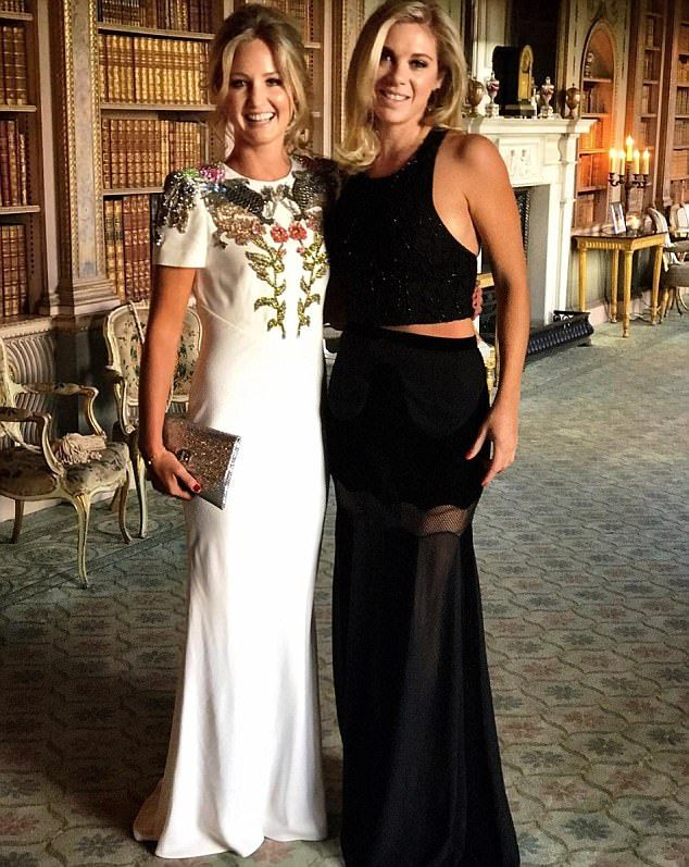 Missy Spencer and Chelsy Davey at Lady Melissa Percy, the Duke of Northumberland's daughter, birthday party on Saturday