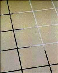 How To Clean Tile Grout ~ Mix 7 cups water, 1/2 cup baking soda, 1/3 cup lemon juice and 1/4 cup vinegar - throw in a spray bottle and spray your floor, let it sit for a minute or two, then scrub :)