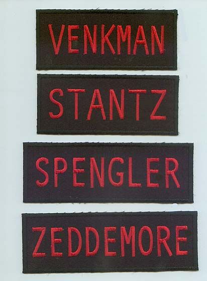 ghostbusters characters names | Will The Real Ghostbusters action figures have the nametags on ...