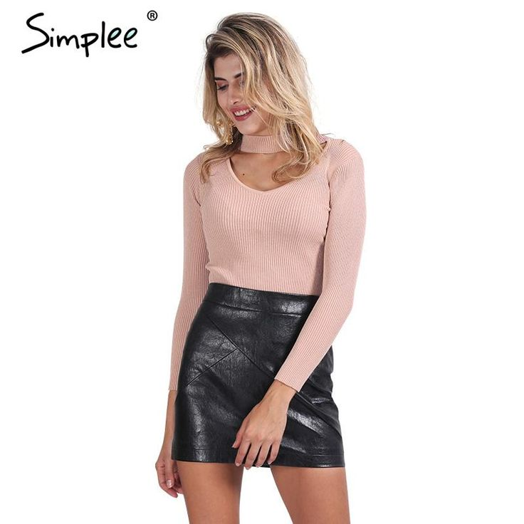 =>>Save onSimplee Elegant halter knitted sweater Autumn winter white short pullover women tops Slim v neck black jumper casual pull femmeSimplee Elegant halter knitted sweater Autumn winter white short pullover women tops Slim v neck black jumper casual pull femmereviews and best price...Cleck Hot Deals >>> http://id574928036.cloudns.hopto.me/32704736860.html.html images