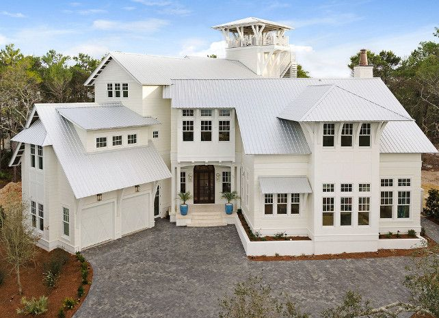 Beach House Designed By Old Seagrove Homes Home Bunch   Beach Houses    Pinterest   WhiteBeach House Colors Exterior   Home Design Ideas. Painting A House Exterior White. Home Design Ideas