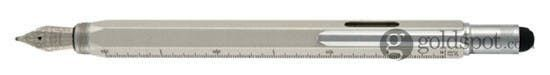 Monteverde One Touch Stylus Tool Silver Medium Point Fountain Pen