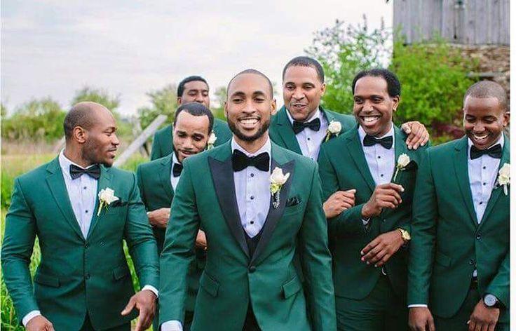 Emerald green groomsmen suits                                                                                                                                                                                 More