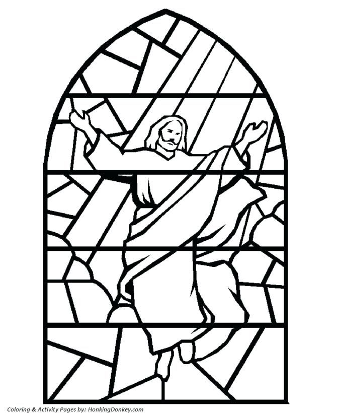 Image For Brilliant Christmas Stained Glass Coloring Pages