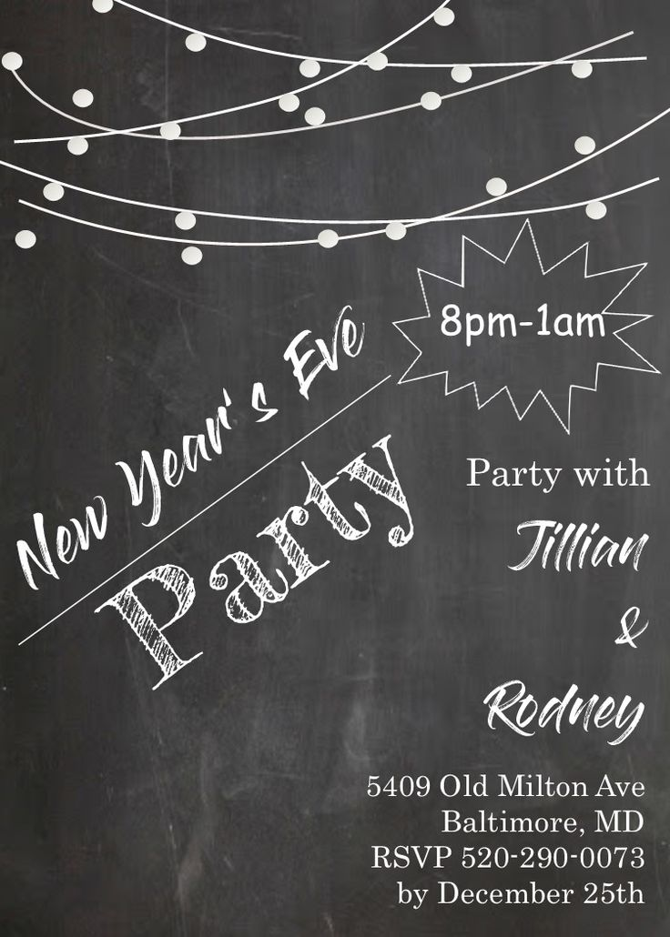 25 best New Years Eve Invitations images on Pinterest | Party ...