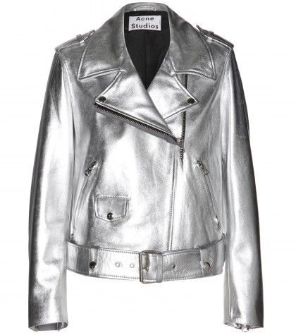 Shop now: Acne Studios - Mape metallic-leather jacket