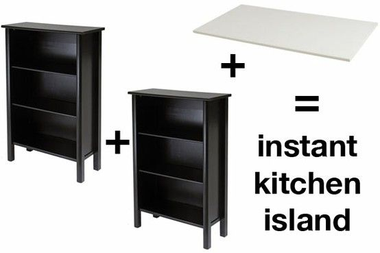 Instant kitchen island (DIY)...this may be the solution to our lack of storage space
