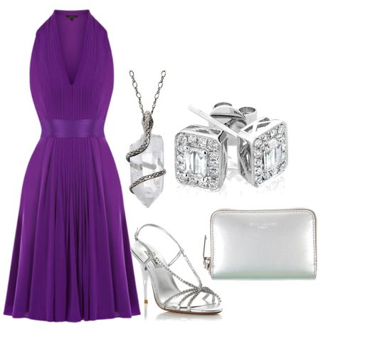 Violet and silver set