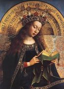 The Ghent Altarpiece- Virgin Mary (detail) 1426-29  by Jan Van Eyck