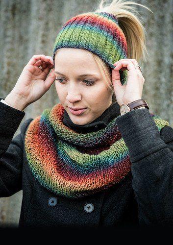 192a9b7de95 Gratis opskrift på strikket hue og halsedisse med glimt | Hue og ...