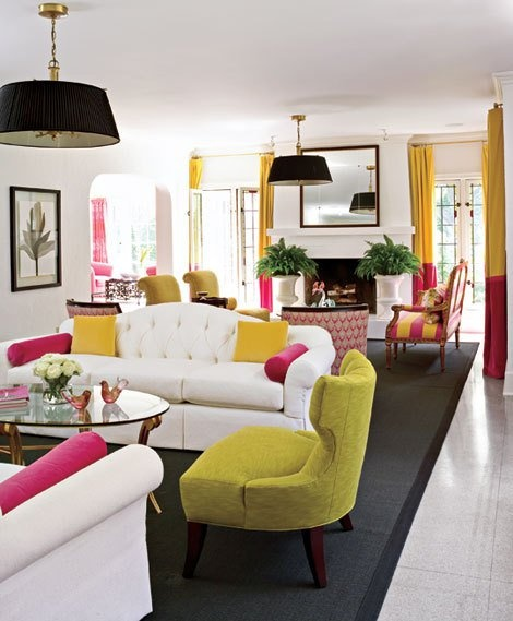 See how strong colour can be bringing a romm together !