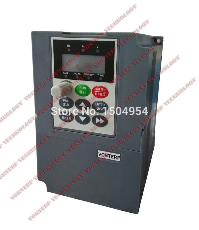 1.5KW VFD 7A 220V Single phase input and 220v 3 phase output Variable Speed Drive VSD Drive Inverter AC Drive Inverter