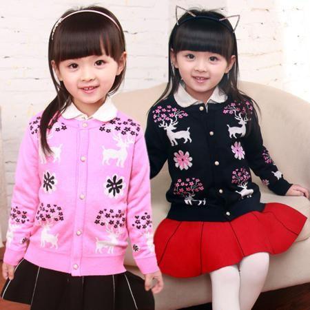 2015 году весной девочек палевый свитер ребенка ребенка маленькие девочки длинный рукав пальто свитер пиджак  — 1196.93р.