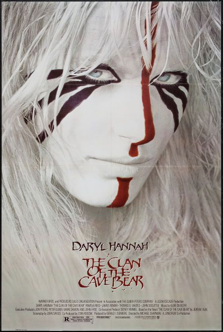 """The Clan of the Cave Bear (Warner Brothers, 1985). One Sheet (27"""" X 40.5""""). Drama. Starring Daryl Hannah, Pamela Reed, James Remar, Thomas G. Waites, John Doolittle, Curtis Armstrong, Martin Doyle, and Bart the Bear. Directed by Michael Chapman. 1"""