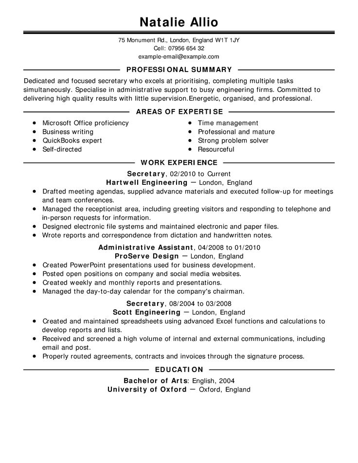 25+ unique Objective examples for resume ideas on Pinterest - receptionist objective for resume