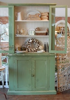 this looks just like my buffet & hutch, only mine isn't green!